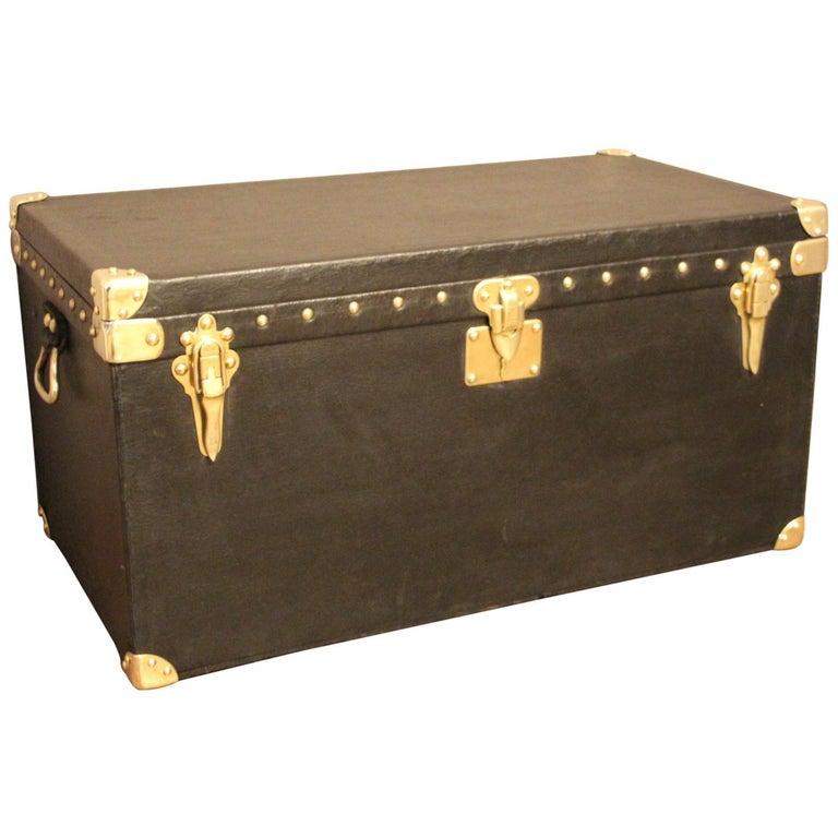 1920s Black Louis Vuitton Motoring Trunk For Sale