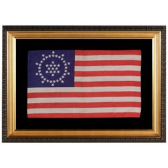 48 Stars on an Antique American Flag Designed and Commissioned by Wayne Whipple