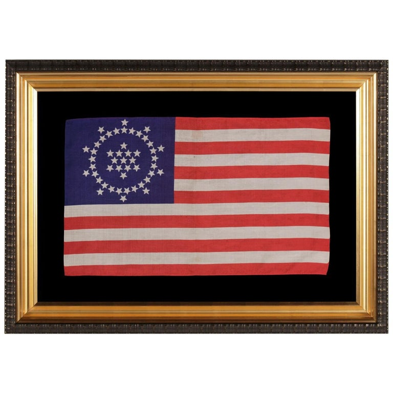 48 Stars on an Antique American Flag Designed and Commissioned by Wayne Whipple For Sale