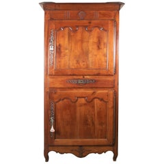 Carved Antique French Armoire