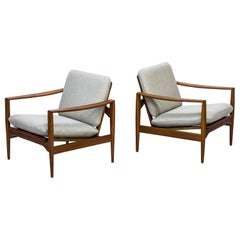 Armchairs by Illum Wikkelsø for Niels Eilersen, Denmark, 1960s