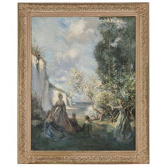 Original European Impressionist Oil Painting, circa 1900-1920