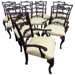 Set of 10 Georgian Style Ladderback Dining Chairs