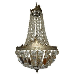 Kleiner Korb Kronleuchter, Bohemian Kristall