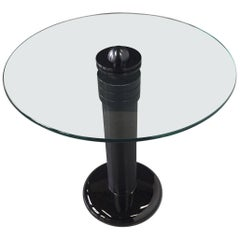 Kaiser-Newman Aluminum, Glass and Porcelain Drinks Table