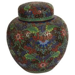 1910 Cloisonné Jar with Lid