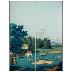 De Gournay Painted couple of 2  Wallpaper from Duarte Pinto Coelho Collection