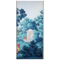 De Gournay Painted Set of 6 Wallpaper from Duarte Pinto Coelho Collection