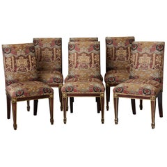 Set of 6 Regency Dining Chairs with Gild Elements