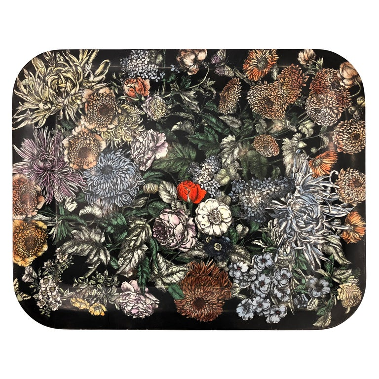 """Fiori"" Tray by Piero Fornasetti, Italy, 1950s For Sale"