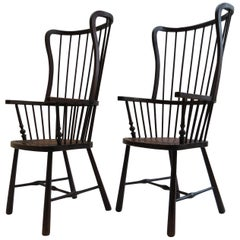 Pair of Early 20th Century Windsor Armchairs