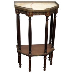 Regency Style Marble-Top Hall Table