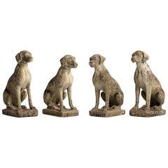 Cast Stone Dogs, England, circa 1960