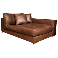 Outstanding Fine Quality Brown Leather Sofa By Rivolta Italy For Sale Creativecarmelina Interior Chair Design Creativecarmelinacom