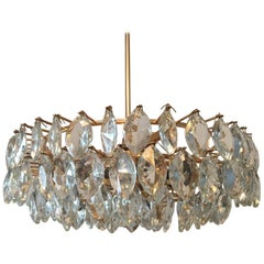 Austrian Gilded Five-Tiered Bakalowits Style Crystal Chandelier, 1970s
