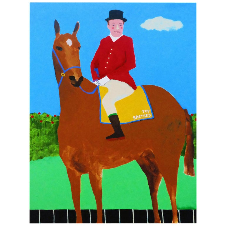 'Leader of the Pack' Portrait Painting by Alan Fears Pop Art Horse 1