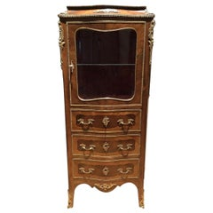 Louis XV Style Mounted Vitrine, Late 19th Century
