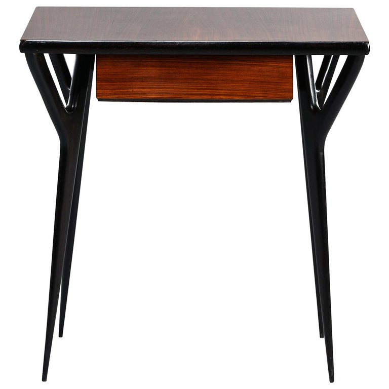 Small Midcentury Italian Desk or Writing Table 1