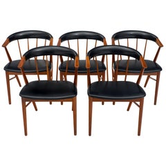 Sibast No. 8 Set of Five Danish Chairs