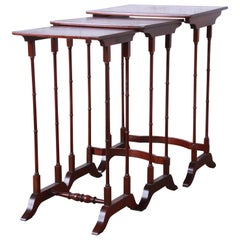 Baker Furniture Historic Charleston Collection Mahogany Nesting Tables, Set of 3