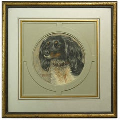 "Dog Portrait of English Springer Spaniel ""Duke"" English School, 20th Century"