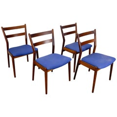 Set of 4 Rosewood Dining Chairs by Helge Sibast