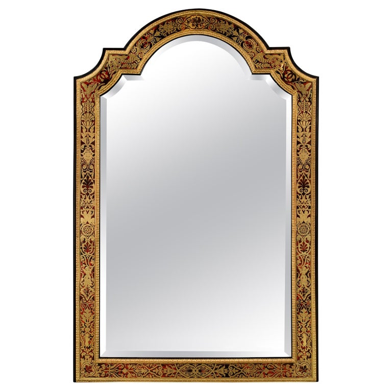 French Mid-19th Century Louis XIV Style Boulle Mirror For Sale