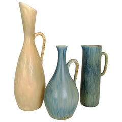 Set of 3 Ceramic Pieces Carl Harry Stålhane, Sweden