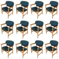 Twelve Ejner Larsen and Axel Bender Madsen Armchairs in Oak, Inc. Reupholstery