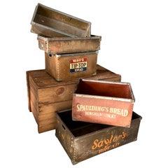 Set of 5 Vintage Industrial American Fortified Cardboard Bins