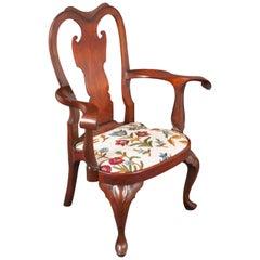 Replica of a Philadelphia Colonial Period 'Queen Anne' Balloon Seat Armchair