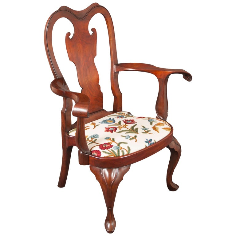 Replica of a Philadelphia Colonial Period 'Queen Anne' Balloon Seat Armchair For Sale