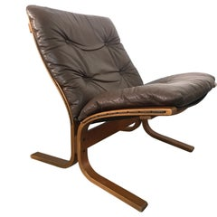 Ingmar Relling Brown Leather Siesta Lounge Chair