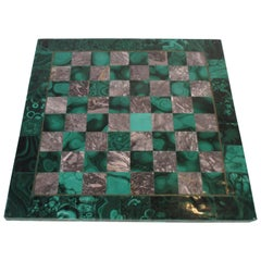 Malachite and Marble Chess Board