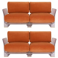 Pair of Lucite Loveseats or Sofas by Piero Lissoni for Kartell