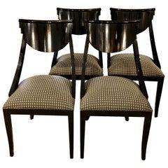 Pietro Costantini Gondola Lacquered Dining Chairs, 21st Century