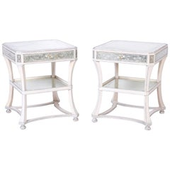 Pair of Italian Mirrored End Tables