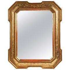 18th Century Gilt Italian Mirror from Lombardy