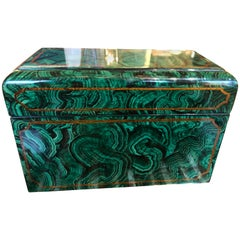 Maitland Smith Faux Malachite Box