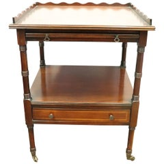 20th Century English Mahogany Wood Side Table or Cocktail Table