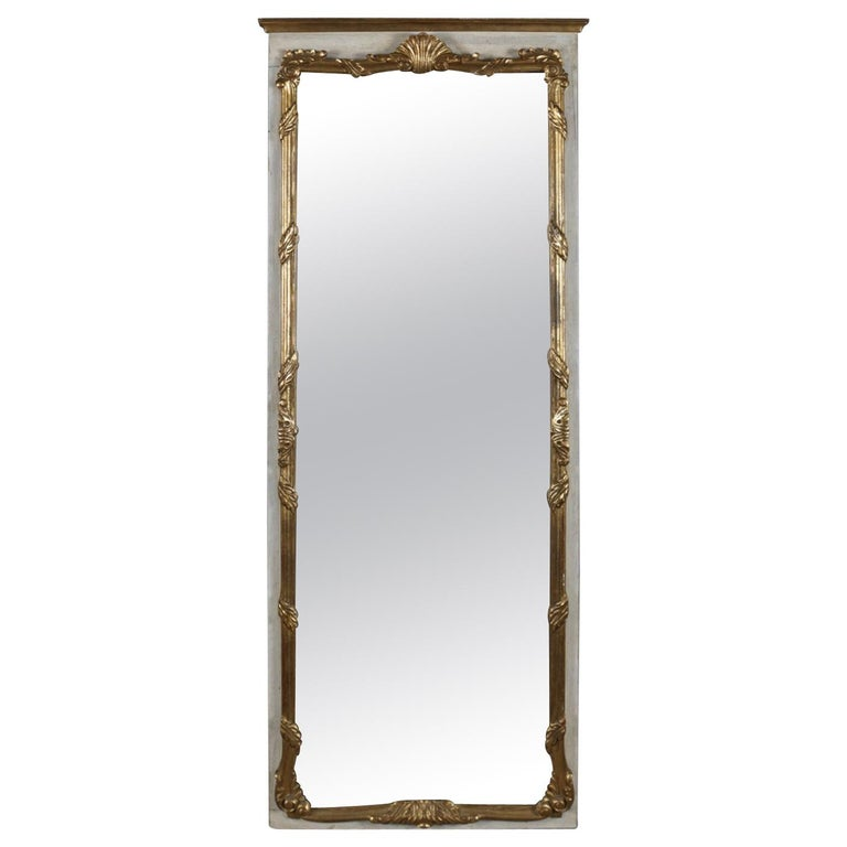 French Provincial Giltwood Foliate and Shell Wall Mount Dressing Mirror For Sale