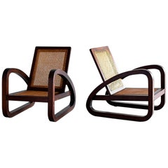 Art Deco French Caned Chairs