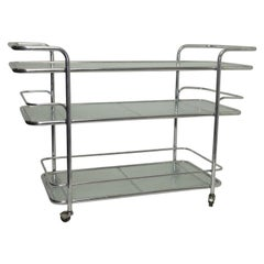 Polished Aluminum Food Service or Bar Cart, American, circa 1950