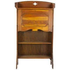 Arts & Crafts Bookcase, Oak Bookcase, Glasgow, Scotland 1910, Antiques
