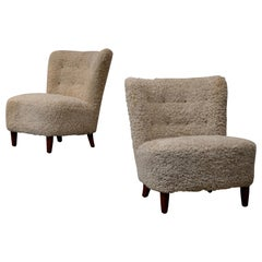 Pair of Swedish Easy Chairs, 1950s