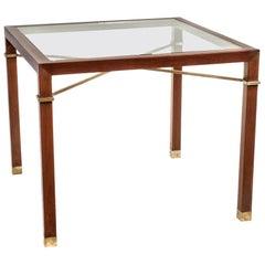 Arturo Pani Mahagoni Spieltisch mit Glasplatte