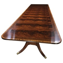 Multi-Banded 14 Ft. Mahogany Regency Style Dining Table by Leighton Hall