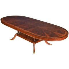 Custom Oval Traditional Mahogany Dining Table by Leighton Hall
