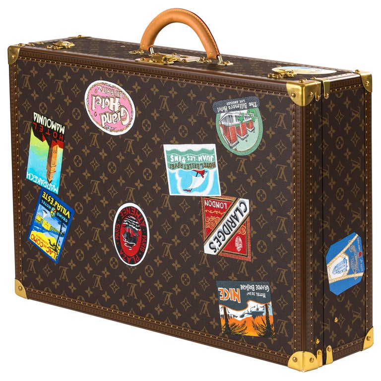 Louis Vuitton Bisten Suitcase 65 Monogram with Stickers For Sale