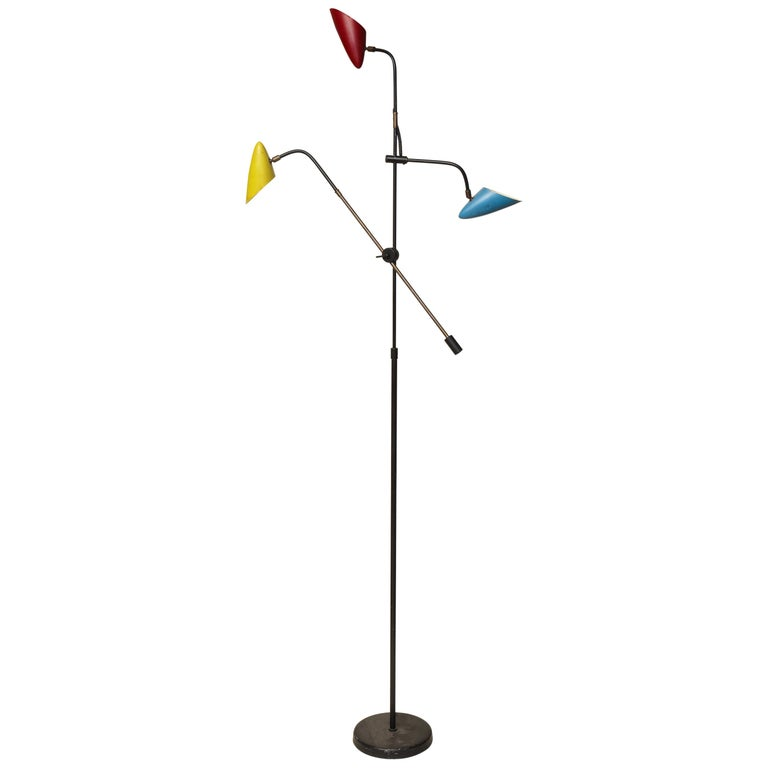 Floor Lamp Articulated Sculptural Mid-Century Modern, France, 1950s For Sale